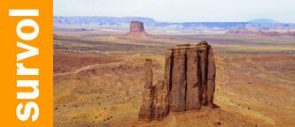 Monument Valley survol en avion