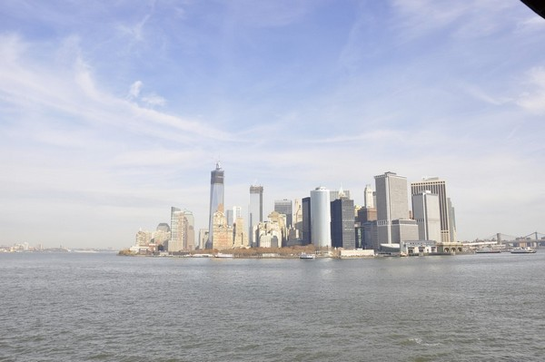 Manhattan vue depuis le Ferry de Staten Island