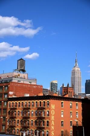 Vue sur l'Empire State Building depuis la High Line New York