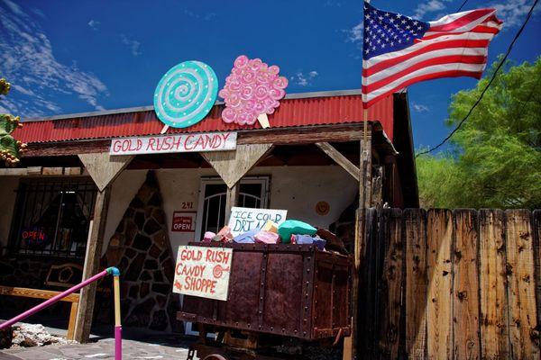 Boutique candies Oatman Route 66 Arizona