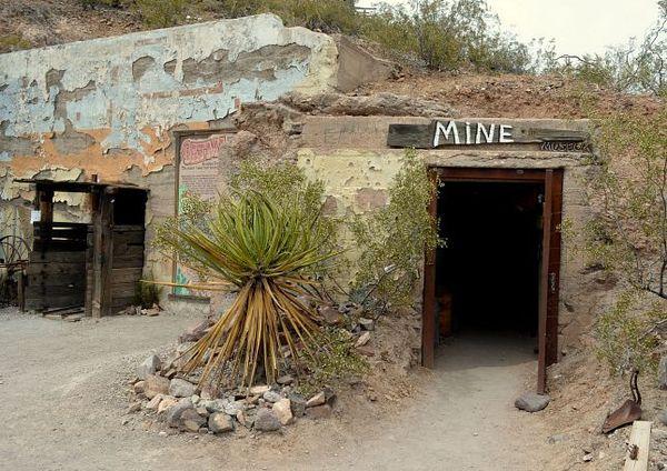 Entrée Mine Oatman Route 66 Arizona