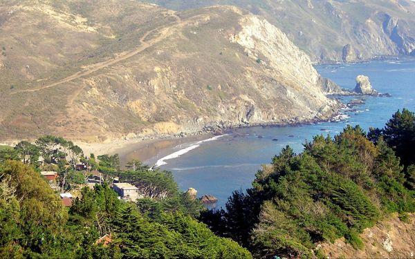 Muir Beach depuis l'Overlook Pacific Coast Highway Californie