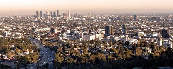 Los Angeles depuis la Mulholland Drive