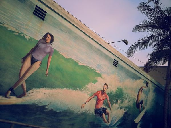 Mural International Surfing Museum Huntington Beach Californie