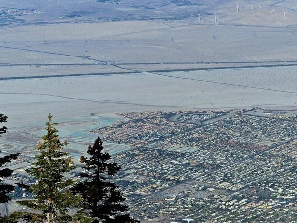 Palm Springs vue depuis le Mont San Jacinto