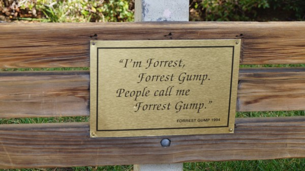 Plaque banc de Forrest Gump Paramount Studio Hollywood