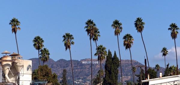 Vue sur la colline d'Hollywood depuis les studios Paramount