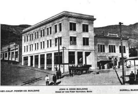 Cook Bank Building Rhyolite, Nevada in 1908