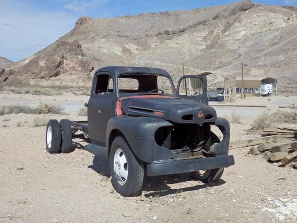 Epave camionnette Rhyolite Nevada