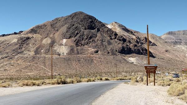 Panneau entrée Rhyolite Ghost Town Nevada
