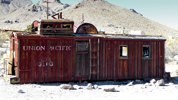 Wagon Rhyolite Ghost Town Nevada