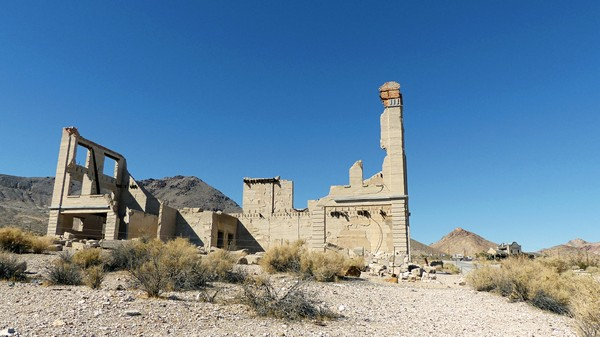 Banque Cook Rhyolite Ghost Town Nevada