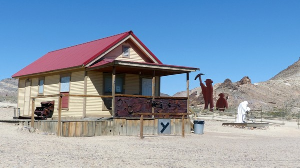 Goldwell Open Air Museum Rhyolite Ghost Town Nevada