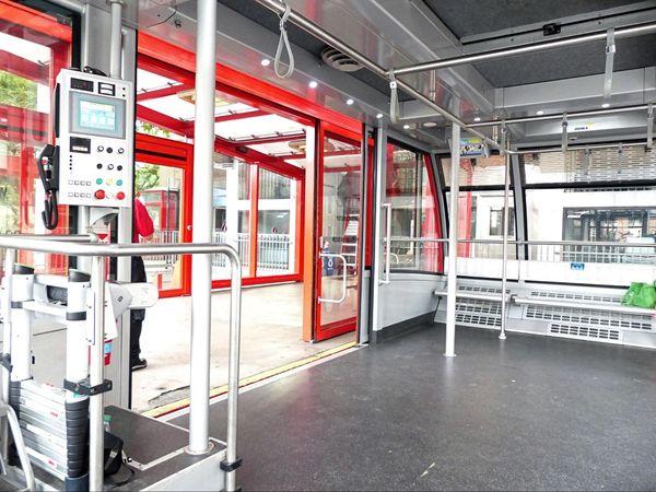 Intérieur cabine téléphérique Roosevelt Island