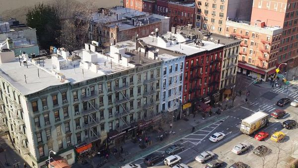 Upper East Side depuis le téléphérique de Roosevelt Island New York
