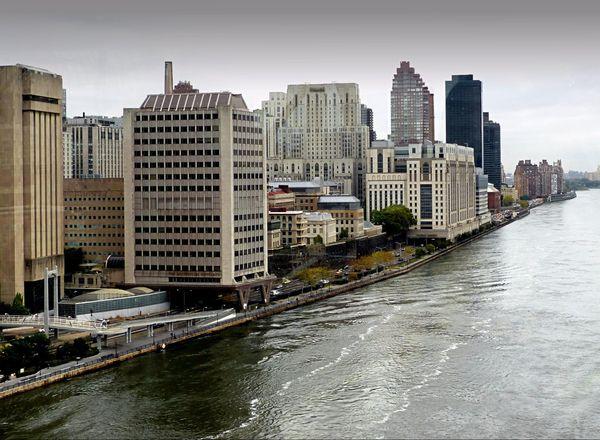East River depuis le téléphérique de Roosevelt Island New York
