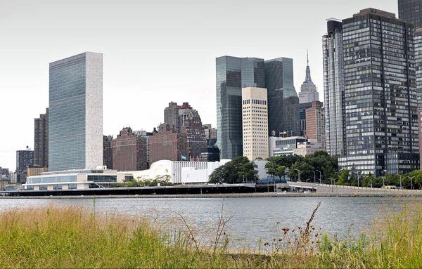 ONU depuis Southpoint Park Roosevelt Island New York