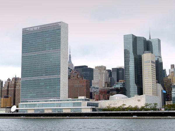 ONU depuis Roosevelt Island New York