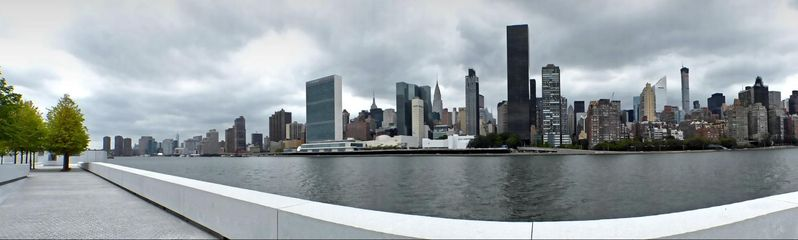 Manhattan East River depuis Roosevelt Island New York
