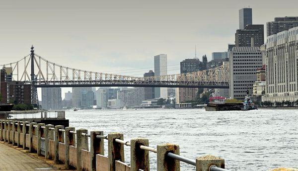 Vue sur Manhattan depuis Roosevelt Island New York