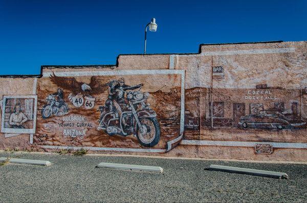Route 66 Mural à Holbrook, Arizona