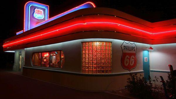 Diner Route 66 à Albuquerque, Nouveau Mexique