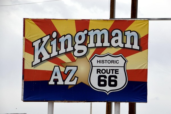 Panneau Kingman Route 66 Arizona