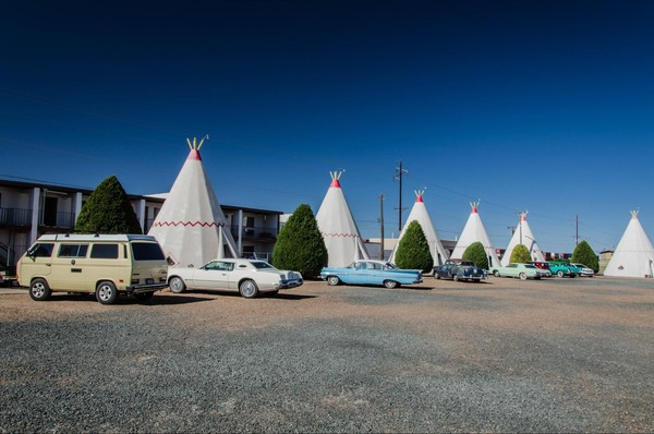 Célèbres tipis du Wigwam Motel Holbrook Route 66 Arizona