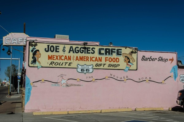 Mural Joe & Aggie's Cafe Holbrook Route 66 Arizona