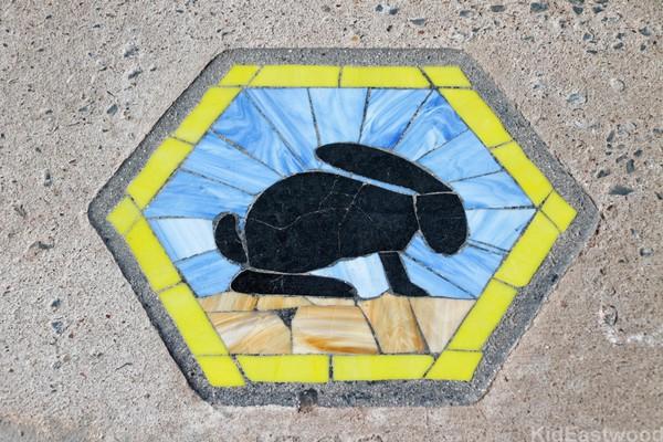 Mosaïque Jackrabbit Trading Post Joseph City Route 66 Arizona