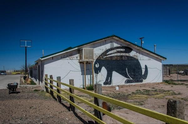 Mural Jackrabbit Trading Post Joseph City Route 66 Arizona