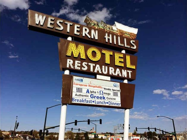 Enseigne Western Hills Motel Flagstaff Arizona