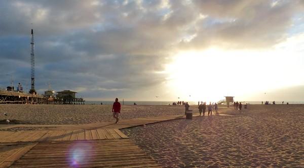 Plage de Santa Monica Californie