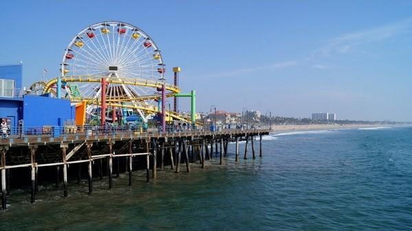 Manèges Santa Monica Pier Californie