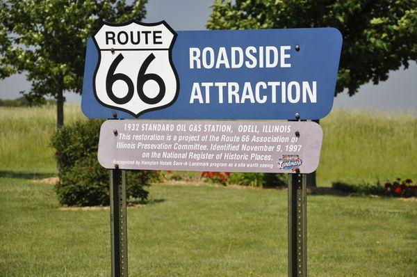 Panneau Route 66 Roadside Attraction