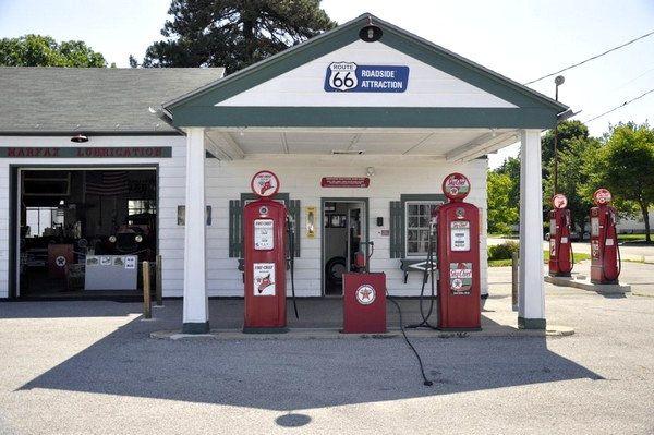 Ambler's Texaco Gas Station à Dwight Route 66 Illinois