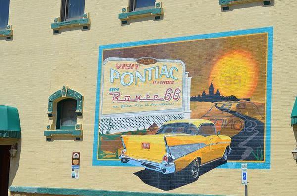 Mural Pontiac Route 66