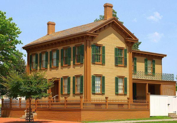 Abraham Lincoln's Home Lincoln Illinois