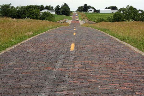 Route 66 entre Chatham et Auburn Illinois