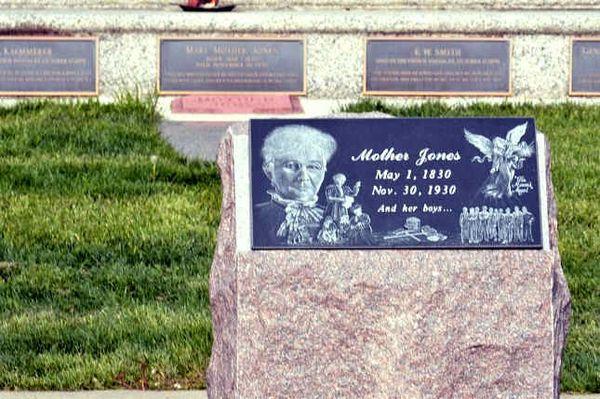 Tombe de Mother Jones Union Miners Cemetary Mount Olive Ilinois