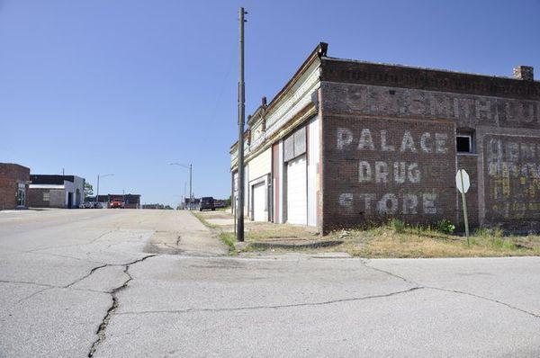Bâtiment abandonné Main Street Galena Kansas Route 66