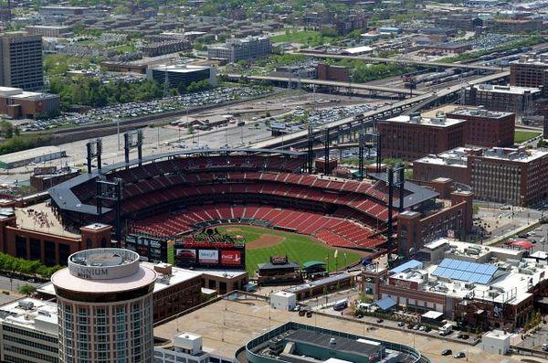 Le Busch Stadium, terrain de baseball des Cardinals