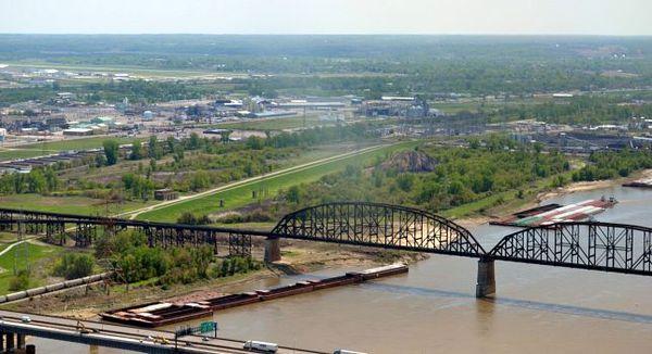 Vue sur les environs de Saint-Louis depuis la Gateway Arch