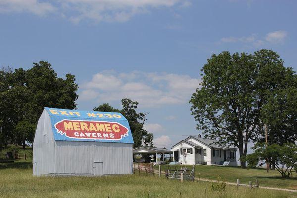 Meramec Caverns Barn Ad Missouri Route 66