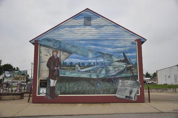 Amelia Earhart Mural Cuba Missouri Route 66