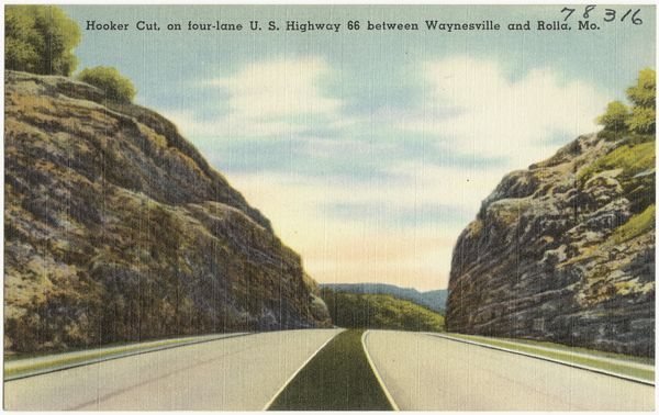 Hooker-cut, ancienne carte postale, Boston Public Library
