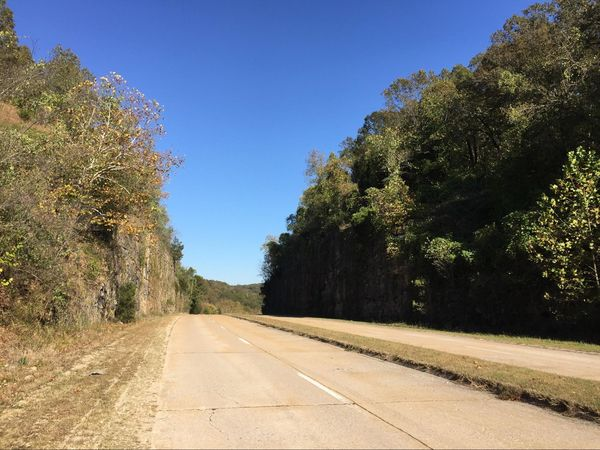 Le Hooker-cut aujourd'hui Missouri Route 66