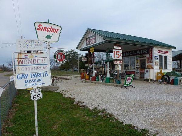 Gay Parita Sinclair Station Halltown Missouri Route 66