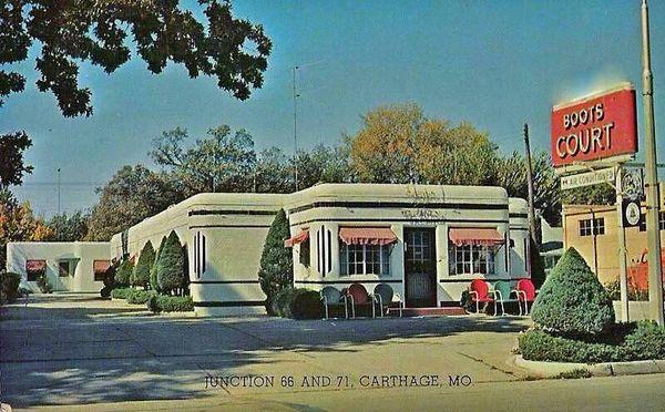 Boots Court Motel 1940 Carthage Missouri