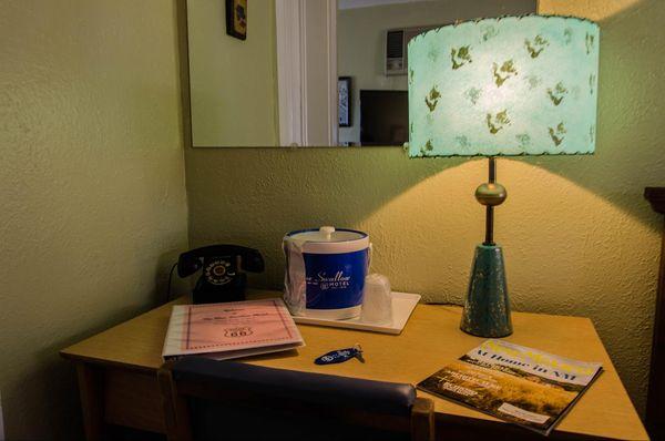 Intérieur chambre Blue Swallow Motel Tucumcari Route 66 Nouveau-Mexique